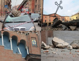 Artistic assets damaged by the earthquake